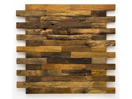 MW 001 dřevěná mozaika 50-150x20mm