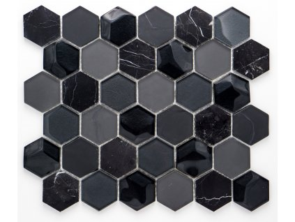 MMIX 023 mozaika, sklo, kámen 55x55mm