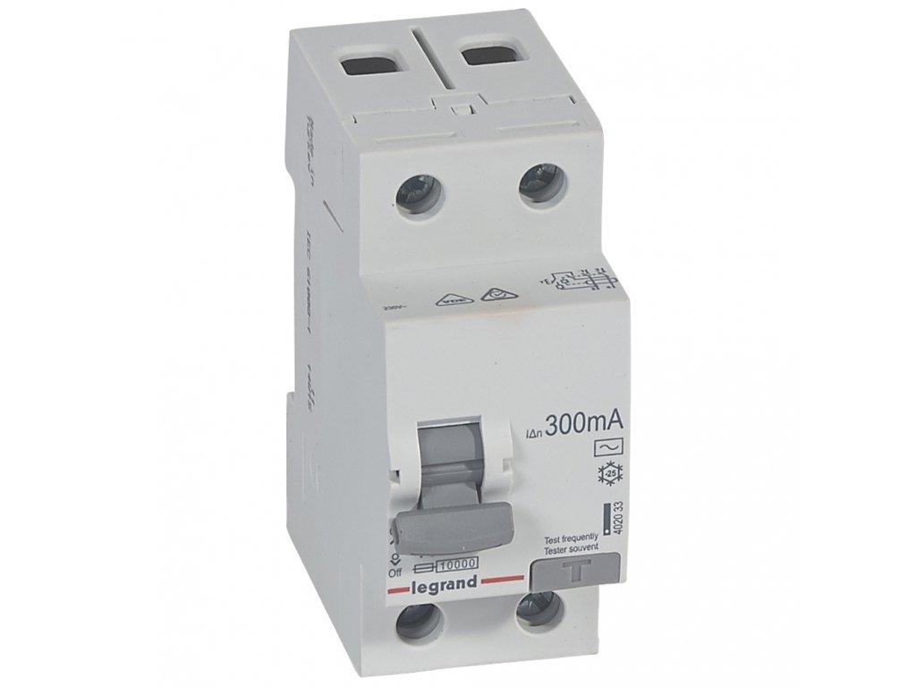 RX3 CHRÁN. 2P 40A 300MA AC