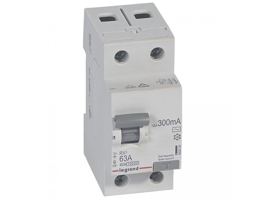 RX3 CHRÁN. 2P 63A 300MA AC