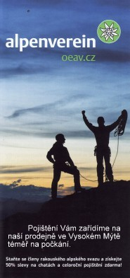 pojištění Alpenverein u nás na počkání