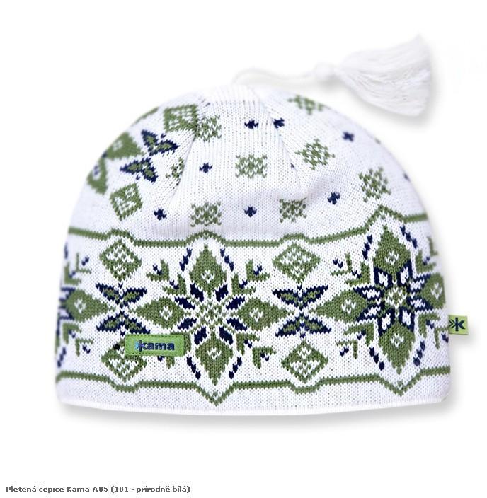 Pletená čepice Kama A05 barva: 101-přírodně bílá, Velikost: uni