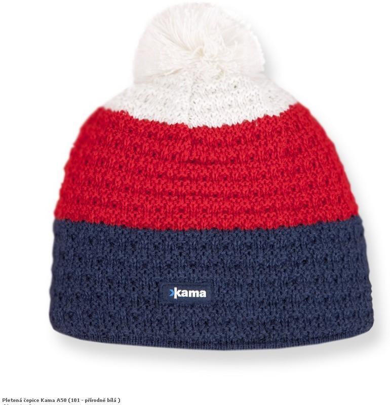 Pletená čepice Kama A50 barva: 104-červená, Velikost: M