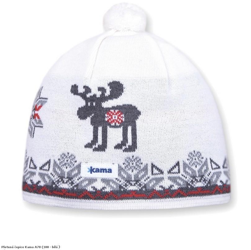 Pletená čepice Kama A78 barva: 104-červená, Velikost: M