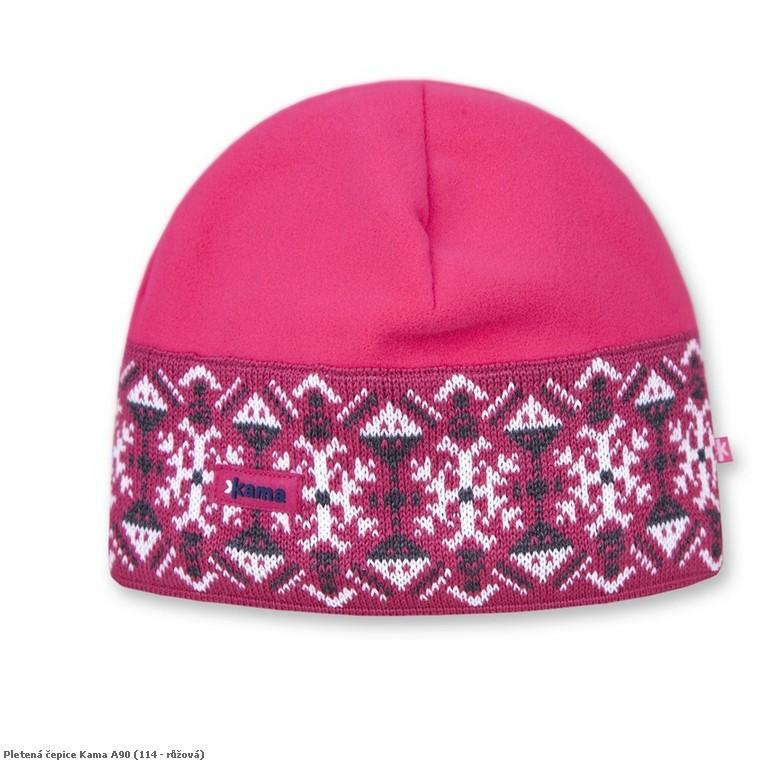 Pletená čepice Kama A90 barva: 114-růžová, Velikost: uni