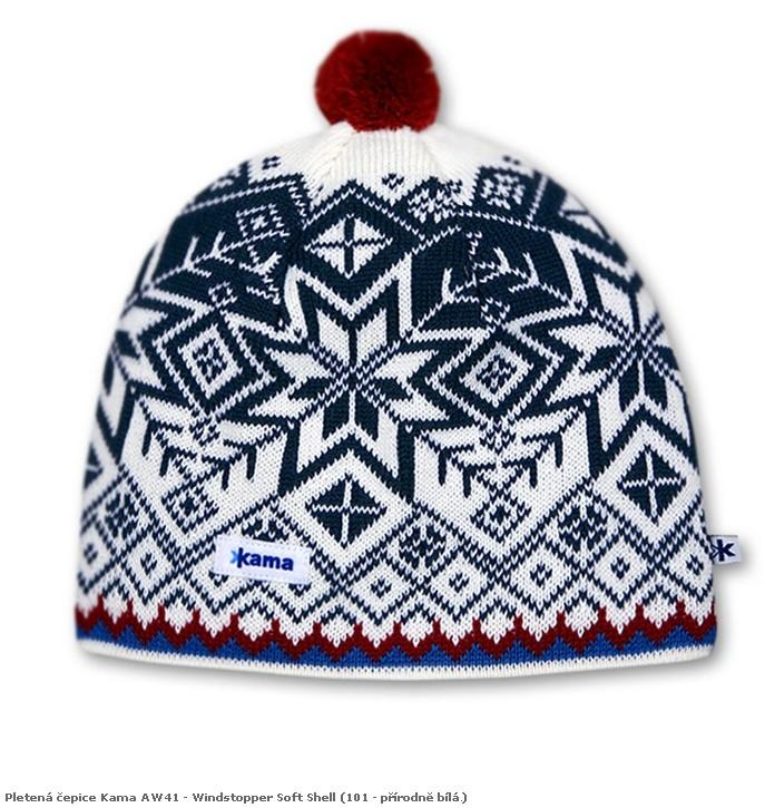 Pletená čepice Kama AW41 - Windstopper Soft Shell barva: 104-červená, Velikost: L