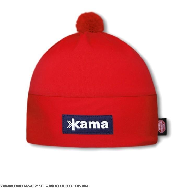 Běžecká čepice Kama AW45 - Windstopper barva: 104-červená, Velikost: uni