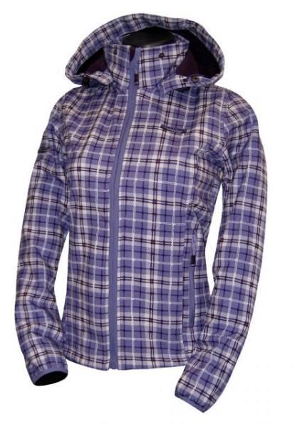 Dámská softshellová bunda ENVY KARINA barva: Fialová, Velikost: 42