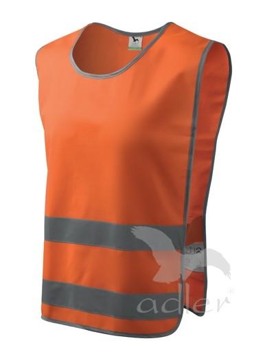 BEZPEČNOSTNÍ VESTA CLASSIC SAFETY VEST barva: reflexní oranžová, Velikost: XXL