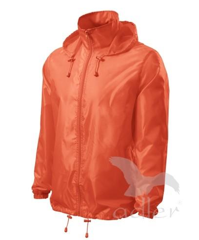 UNISEX VĚTROVKA WINDY barva: neon orange, Velikost: XL