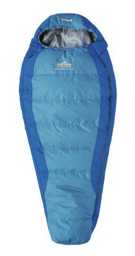 spací pytel SAVANA JUNIOR barva: blue, délka: výška postavy do 150cm, zapínání: pravý