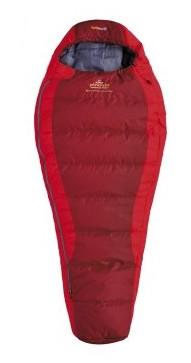 spací pytel SAVANA JUNIOR barva: red, délka: výška postavy do 150cm, zapínání: pravý