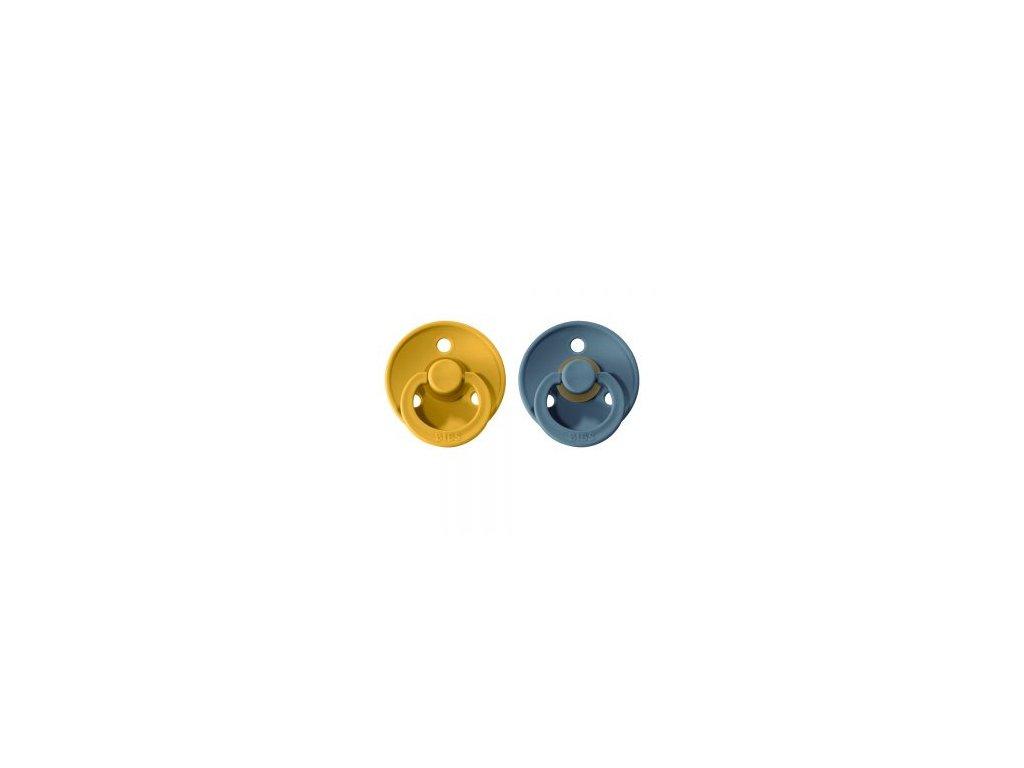 BIBS Colour cumliky z prirodneho kaucuku 2ks MustardPetrol 300x300