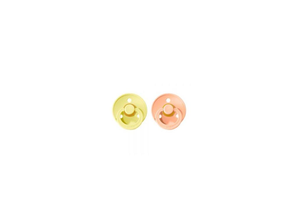BIBS Colour cumliky z prirodneho kaucuku 2ks SunshinePeachSunset 300x300
