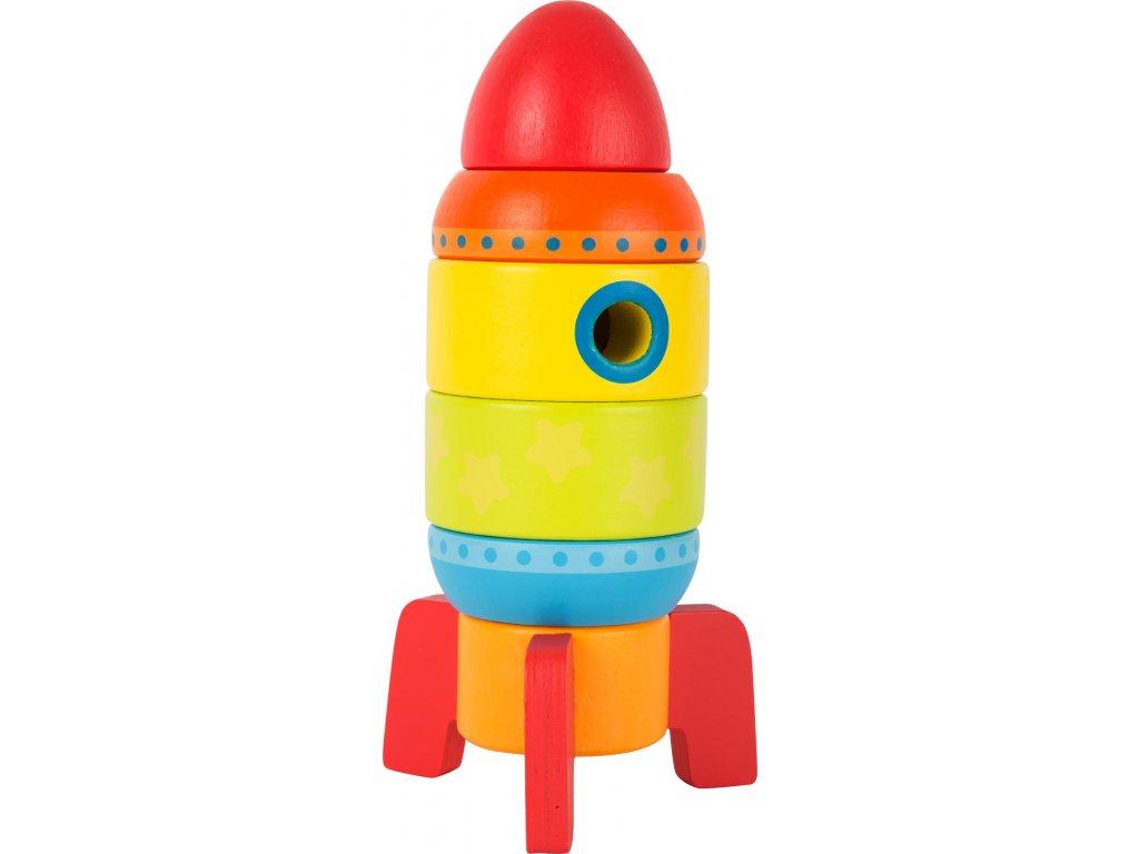 Small Foot Dřevěná barevná raketa