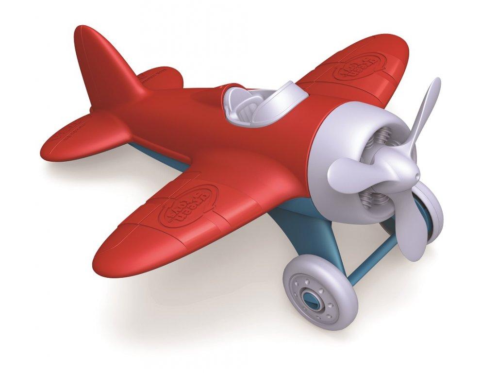 Green Toys letadlo červené