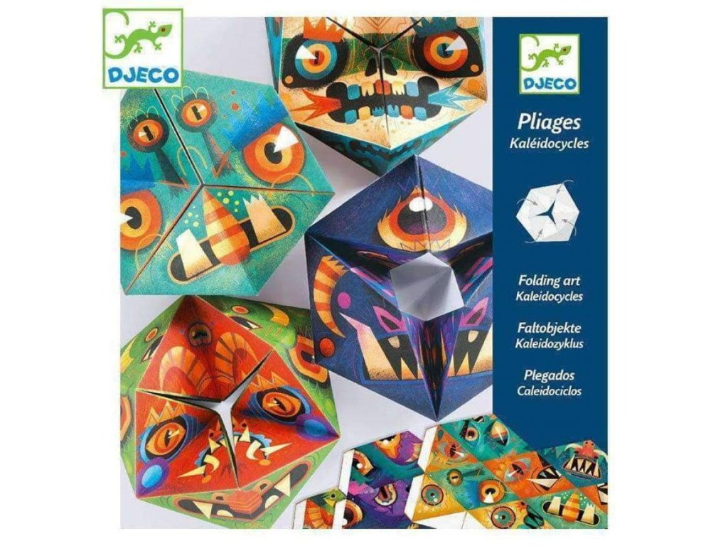 djeco kaleidocycles folding art flexmonsters 213874 900x