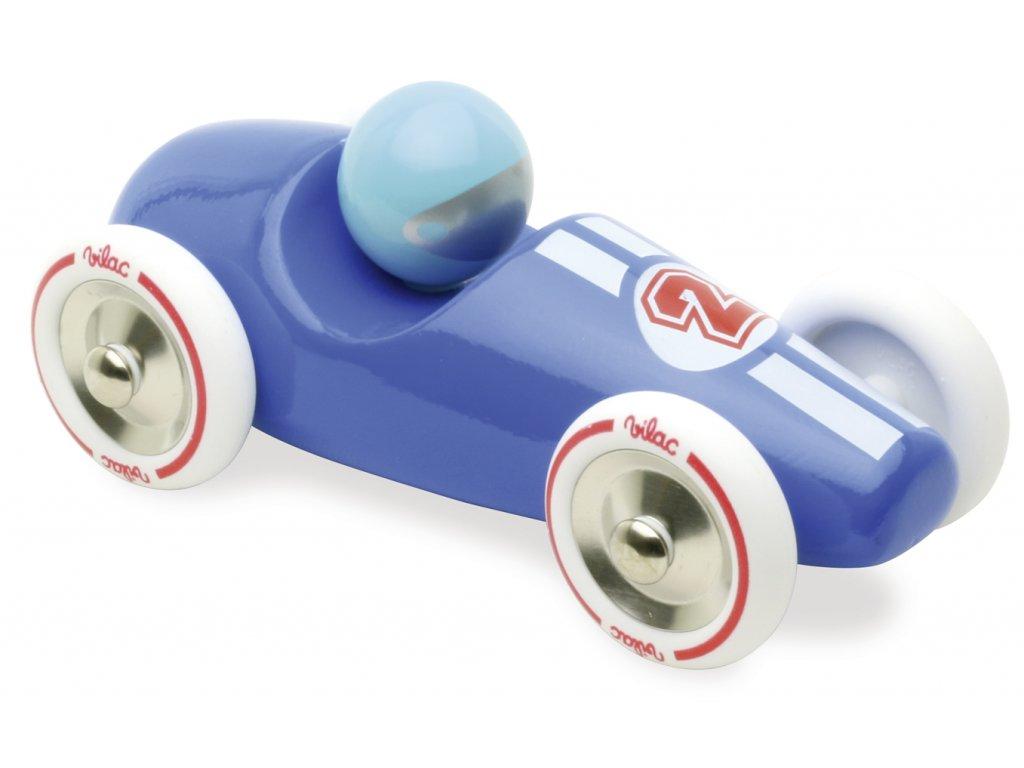 Vilac Závodní auto GM modré s bílými koly