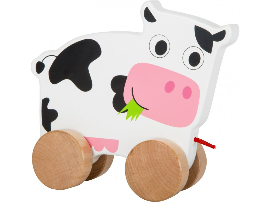 Small Foot Dřevěná tahací kravička