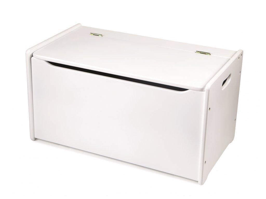 Tidlo Dřevěná úložná lavice bílá