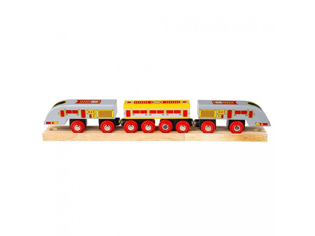 Bigjigs Rail Rychlík Eurostar + 3 koleje