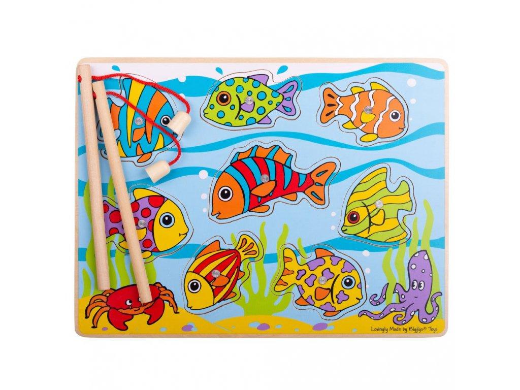 Bigjigs Toys Chytání rybiček na desce