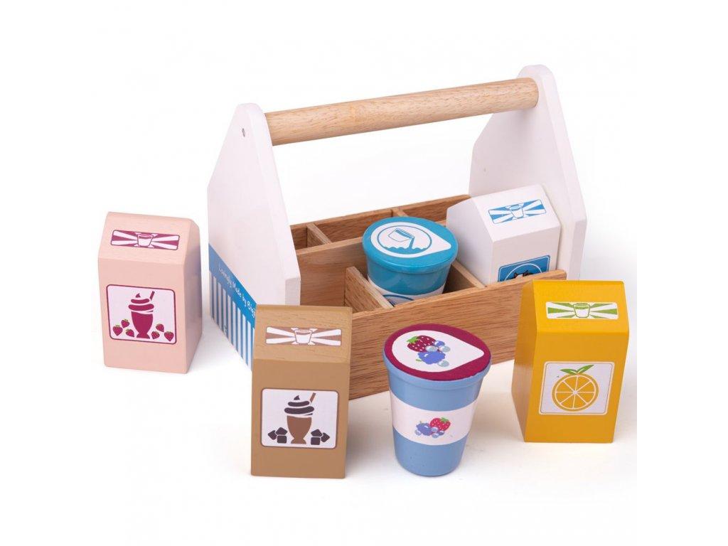 Bigjigs Toys Koktejlové výrobky v přenosné krabičce