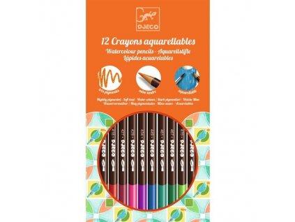 1011 1 akvarelove pastelky 12 kusu