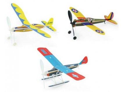 Vilac Stavebnice letadla s natahovací vrtulí 1ks modrá