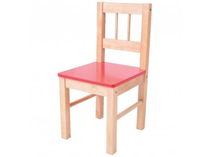 Bigjigs Toys Dřevěná židle červená