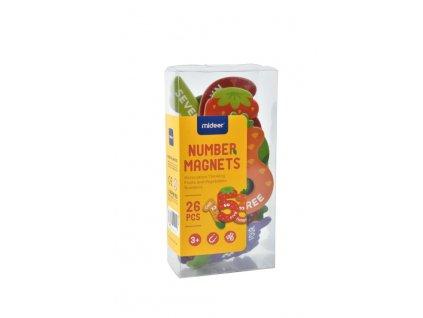 889 magnetky cisla ovoce a zelenina