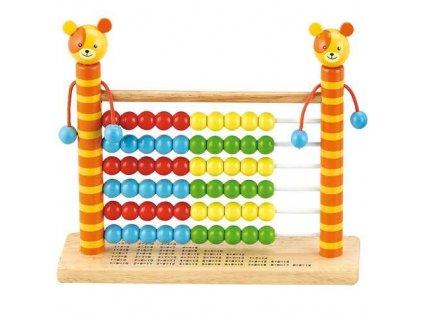HJ Toys Dřevěné počítadlo medvídek