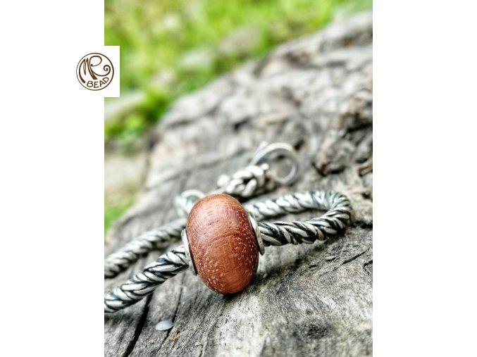 Dřevěný korálek - Bubinga