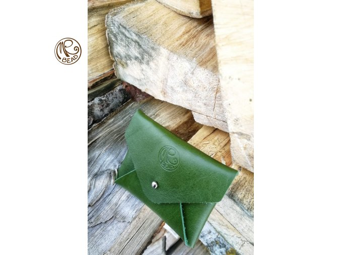 Psaníčko - kožená kapsička Zelená