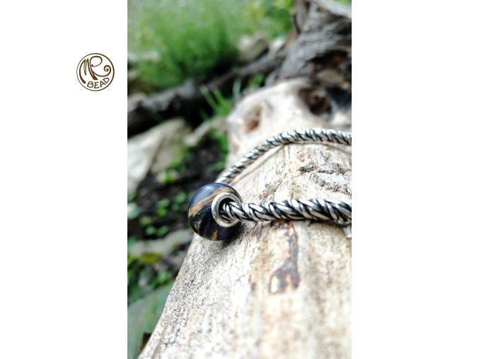 Dřevěný korálek - Osika stabilizovaná
