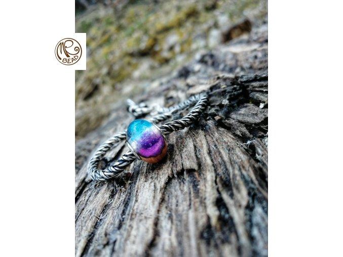 Dřevěný korálek - Briar, kořen Vřesovce & pryskyřice
