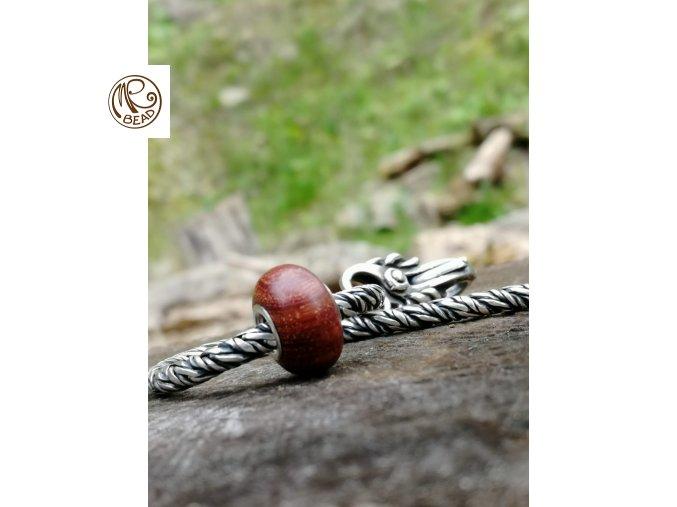 Dřevěný korálek - Santal červený