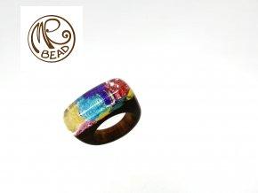 Teakový prsten&pryskyřice