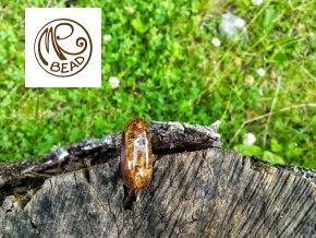 Ořechový prsten&pryskyřice STEAM PUNK