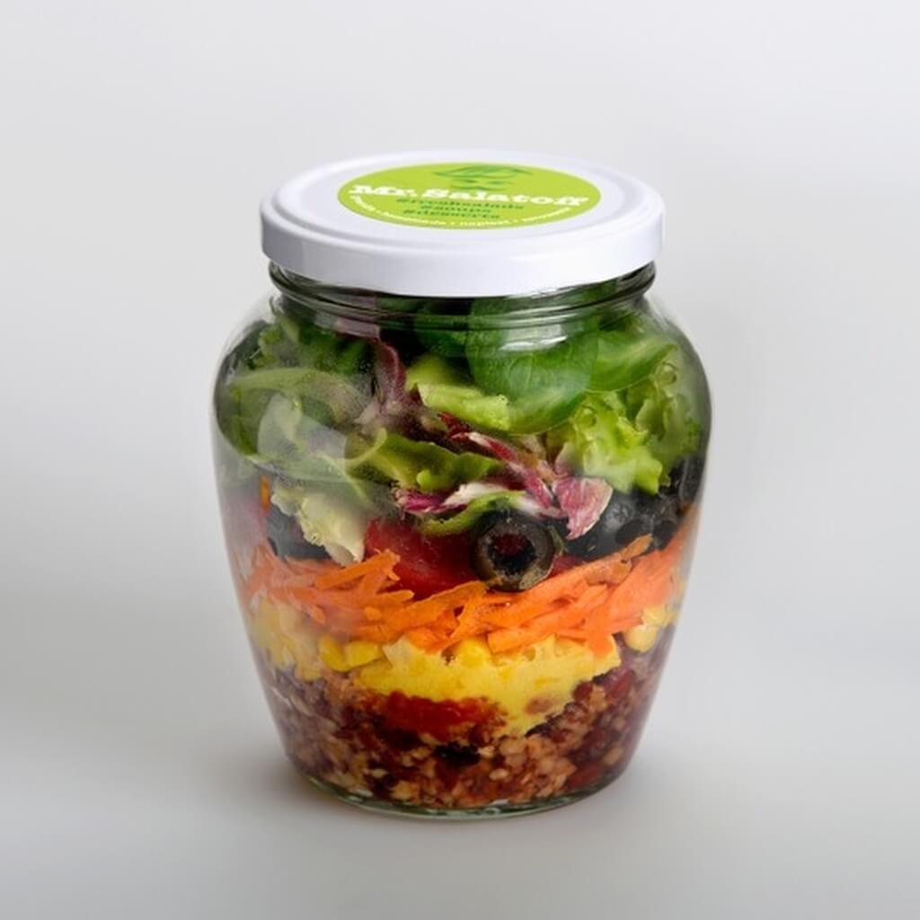 saláty Salát s trhanými fazolemi