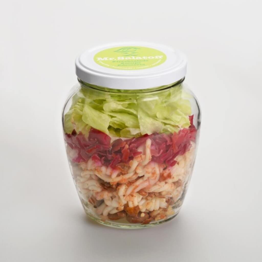 saláty Veganský fazolový salát s fermentovanou řepou