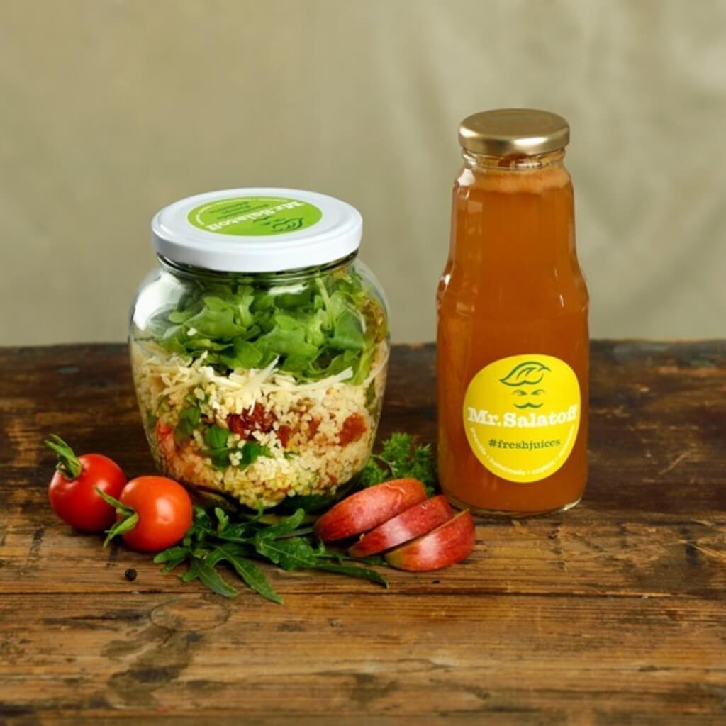 M1 Cuketový salat s bulgurem, Jablečný fresh