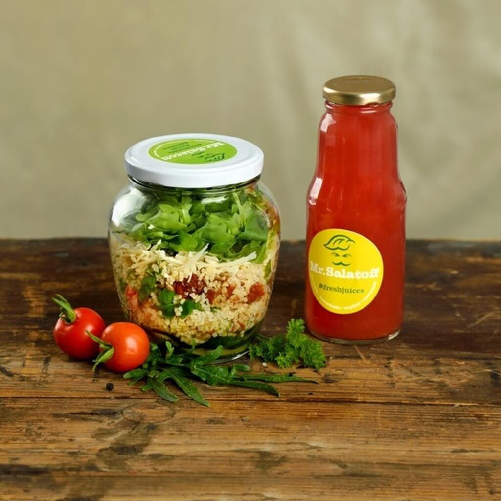 M1 Cuketový salat s bulgurem, Melounový fresh