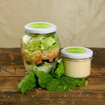M1 Sushibow salát s uzeným lososem, Celerový krém