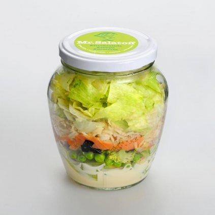 saláty Sushibowl salát s uzeným lososem