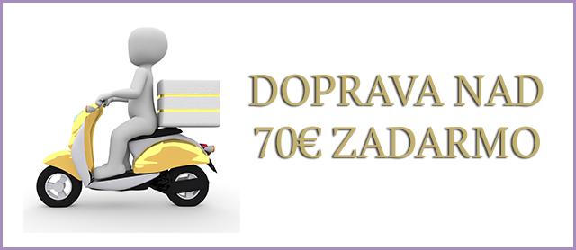 Doprava nad 70€ zadarmo