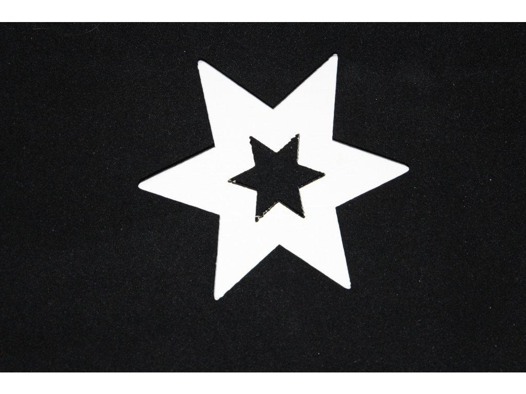 Drevená dekorácia biela hviezda Ø7cm