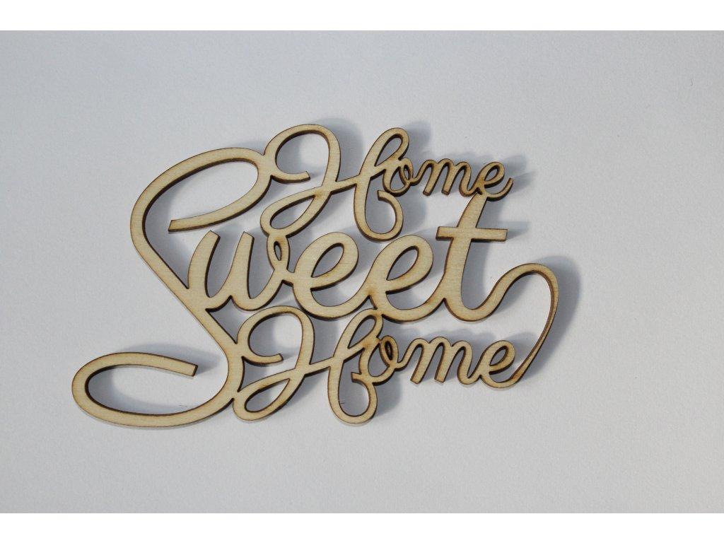 Drevený nápis HOME SWEET HOME 11cm