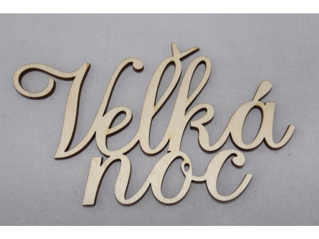 Drevený nápis VEĽKÁ NOC 12cm
