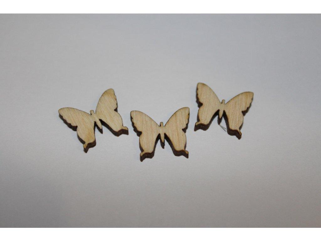 Drevený motýlik 1,5cm (balenie 10ks)